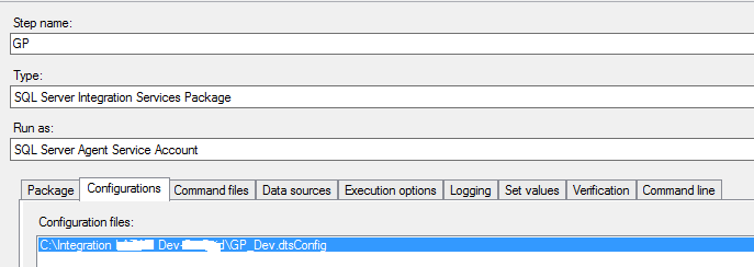How to create dtsconfig file in ssis