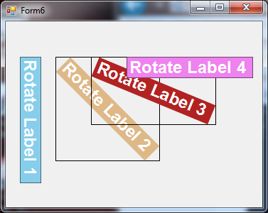 How to make the label rotated in vb net