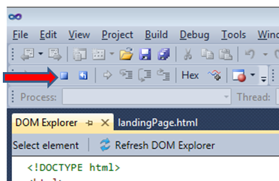 Visual Studio 11 Stop Debugging