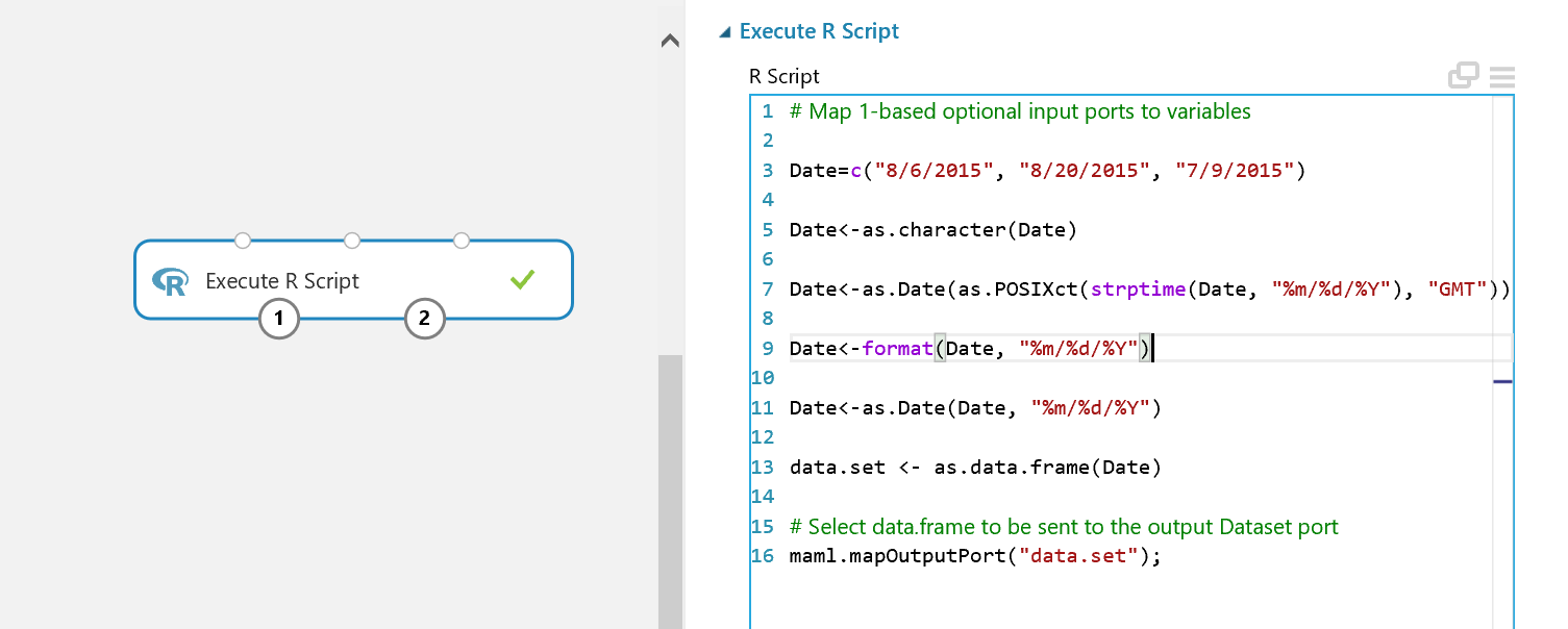 Date variable writing out as blank from execute r module in Azure ...