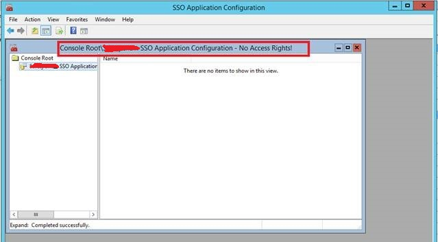 SSO Application Configuration