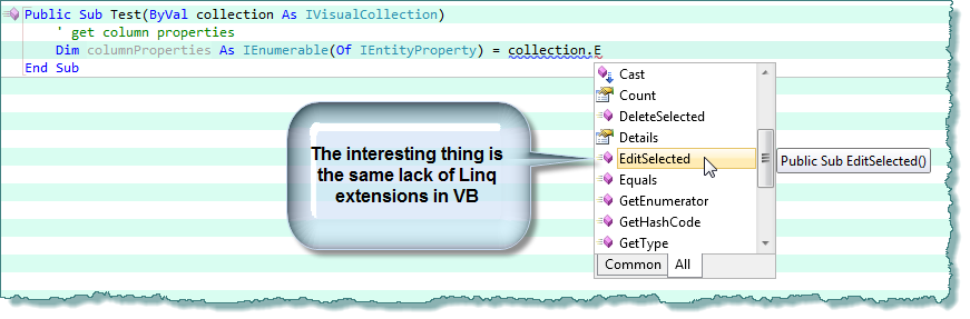 Accessing Ivisualcollection In C Vs Vb