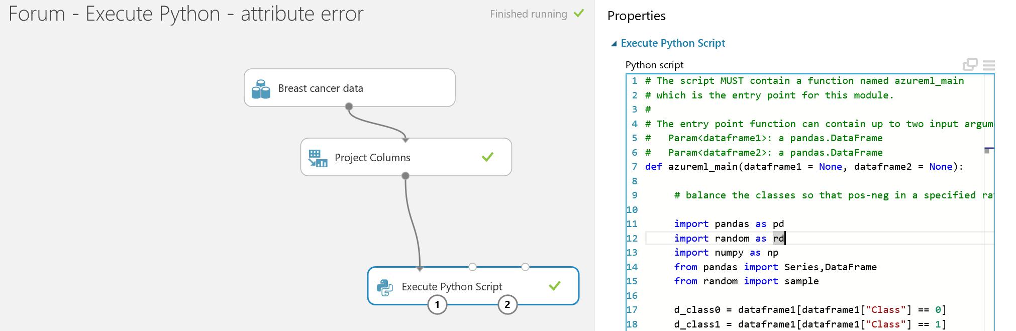 AttributeError: 'DataFrame' object has no attribute 'sample'