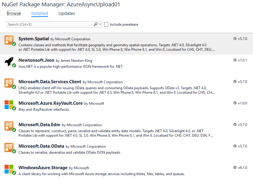 NuGet Packages