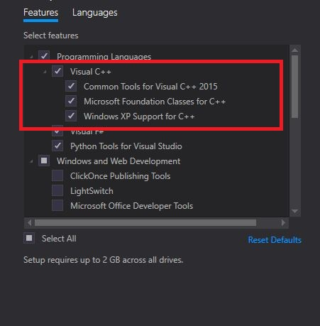 Microsoft made c++ a second-class citizen in visual studio 2015 |.