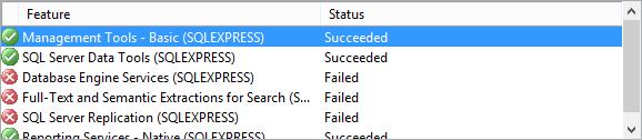 Application of SQL Server 2012 SP3 fails - Express instance cannot start