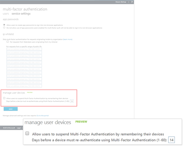 Azure AD and Office 365 - Remembered devices and MFA