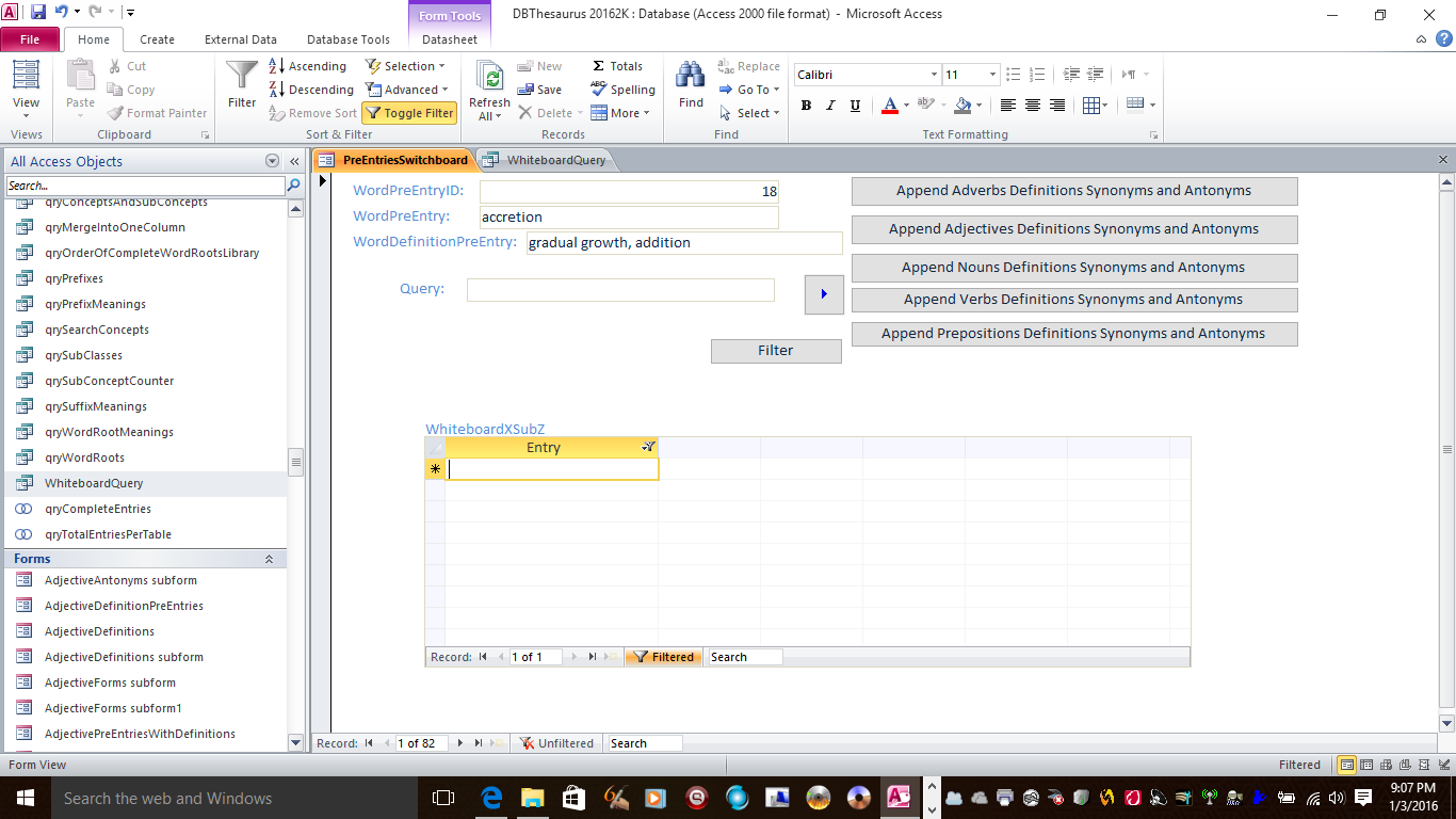 ms access 2016 dlookup