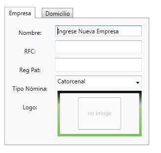 (Figura 3).- Regreso al Tab 1(empresa), visualmente no se observa el cuadro rojo con el error