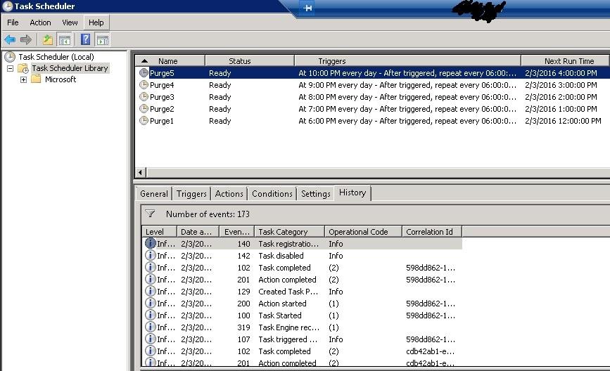 how to set task scheduler in windows server 2008