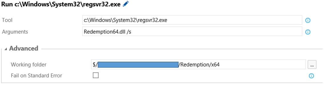 Register a library using RegSvr32