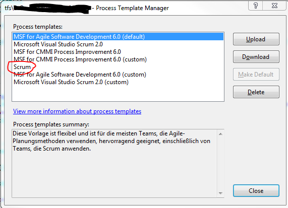 How to upgrade vom TFS2012 to TFS2015