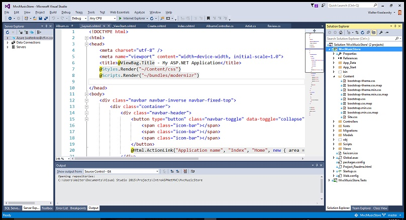 Screen shot showing zoom in for Code Editor, but can't find feature to do same for Solution Explorer.