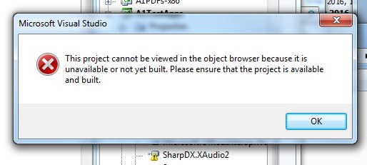 Cannot Reference SharpDX XAudio2 dll
