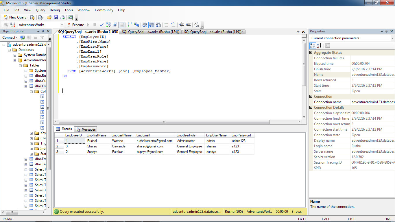 Encrypt And Decrypt the password while storing into Sql