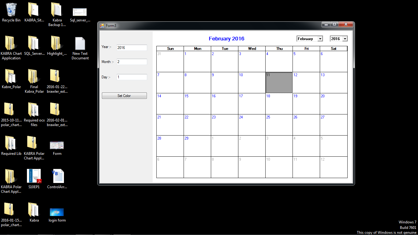 Calendar Design Using Photo : Design scheduler control using calendar in vb