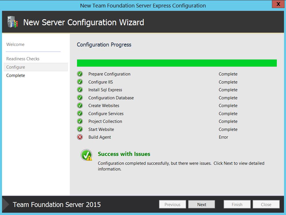 Install Builde Server Agent Tfs