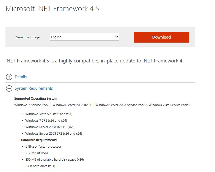 Stable DOTNET framework latest