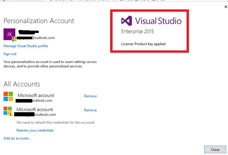 visual studio product key 2013