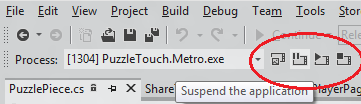 suspend and resume toolbar buttons in VS11
