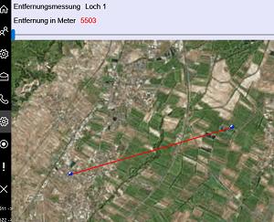 Entfernungsmesser Route : Route auf screen zentrieren