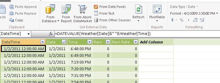DateTime Screenshot