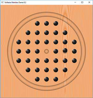 Screen shot of a program Solitaire Marble 0.2a