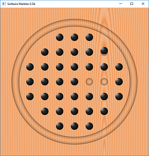 Screen shot of a program Solitaire Marbles 0.3b