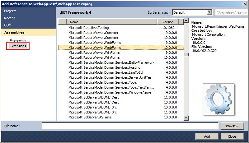 microsoft report viewer version 11.0.0.0