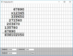 Screen shot of a program Production 0.1