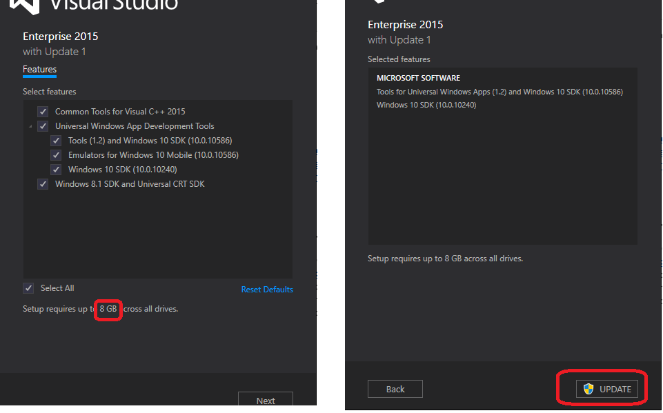 install visual studio 2015 enterprise on windows 10