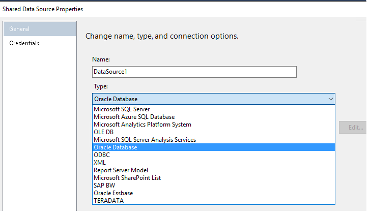 SSRS 2016 RC2 - Oracle Connection Type missing