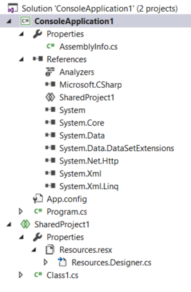 shared project resources resx file not generating new