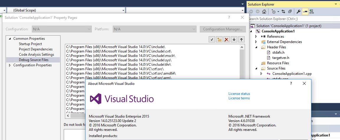 How to debug vb6 DLL with visual studio 2015