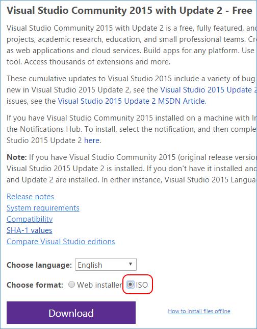 Visual Studio 2015 Offline Installer Iso Free Download