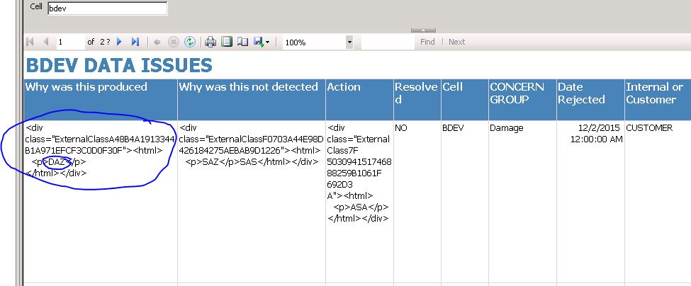 Text field from sharepoint showing div tag in preview of - Div tag properties ...
