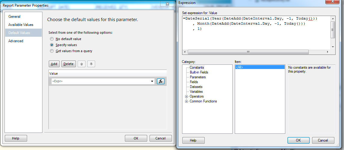 Default Date/Time parameter won't display correct default value