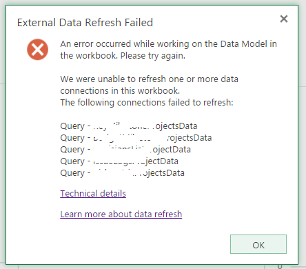 External Data Refresh Failed Error Img