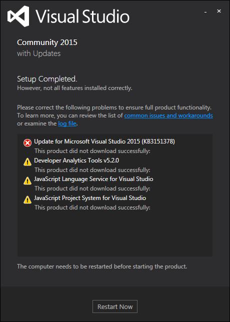 Update failure