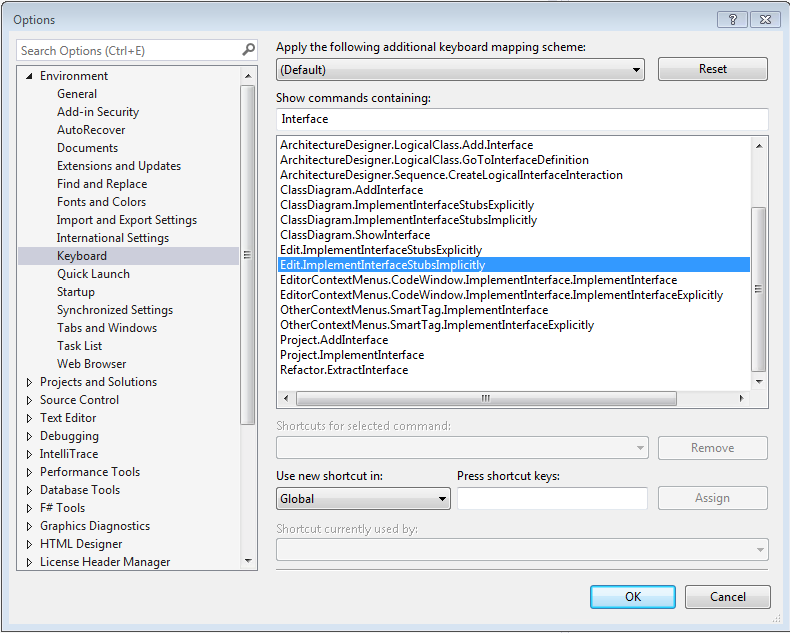 Invoke a codefix from an iwizard in visual studio 2013 there is a command for implementing an interface called editplementinterfacestubimplicitly ccuart Images