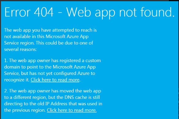 record - point Azure subdomain name application to another