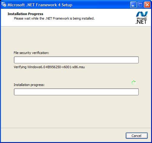 .net framework 4.0 v 30319 windows xp offline