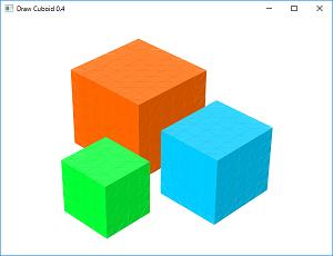 Screen shot of a program Draw Cuboid 0.4
