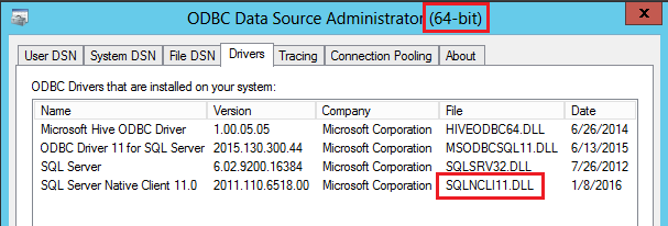 Cannot initialize the data source object of OLE DB provider