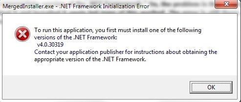 net framework v4.0.3019