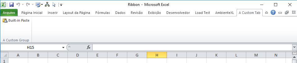add custom Ribbon XML markup to XLSX file