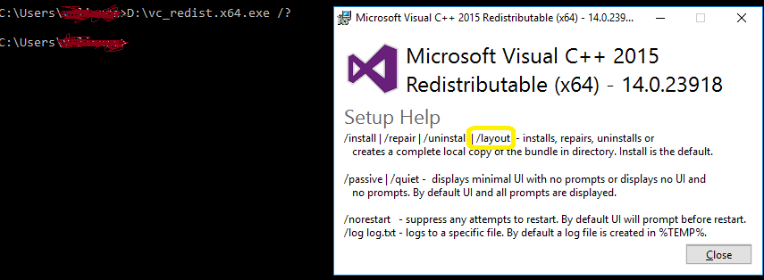 How to download and install visual c++ redistributable packages.