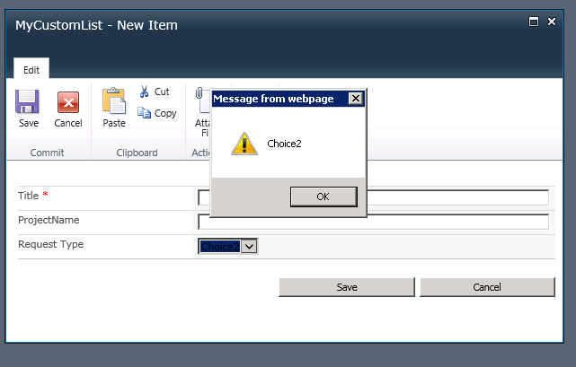 onchange event handler not working properly