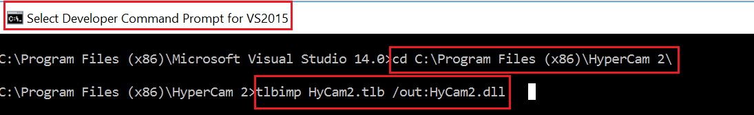 HOW TO ADD HYCAM 2.1 REFERENCE VS2015