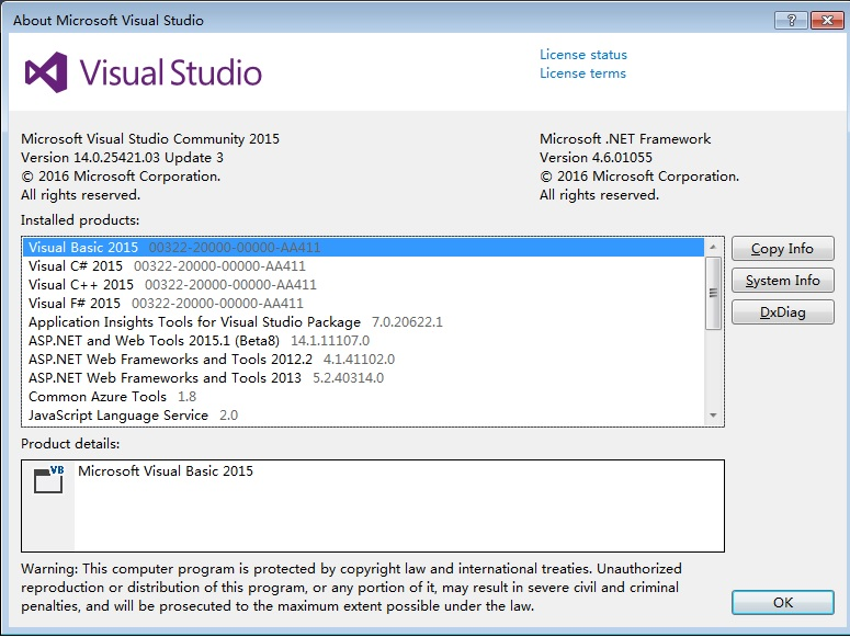 VS2015 with Update 3